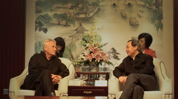 Chris Nebe sits with Mr. Xie, who kindly opened the doors of Yangzhou to our crew.