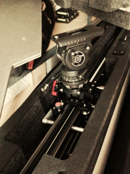 FloatCam Matthews Slider with Sachtler DV 10 SB mounted!