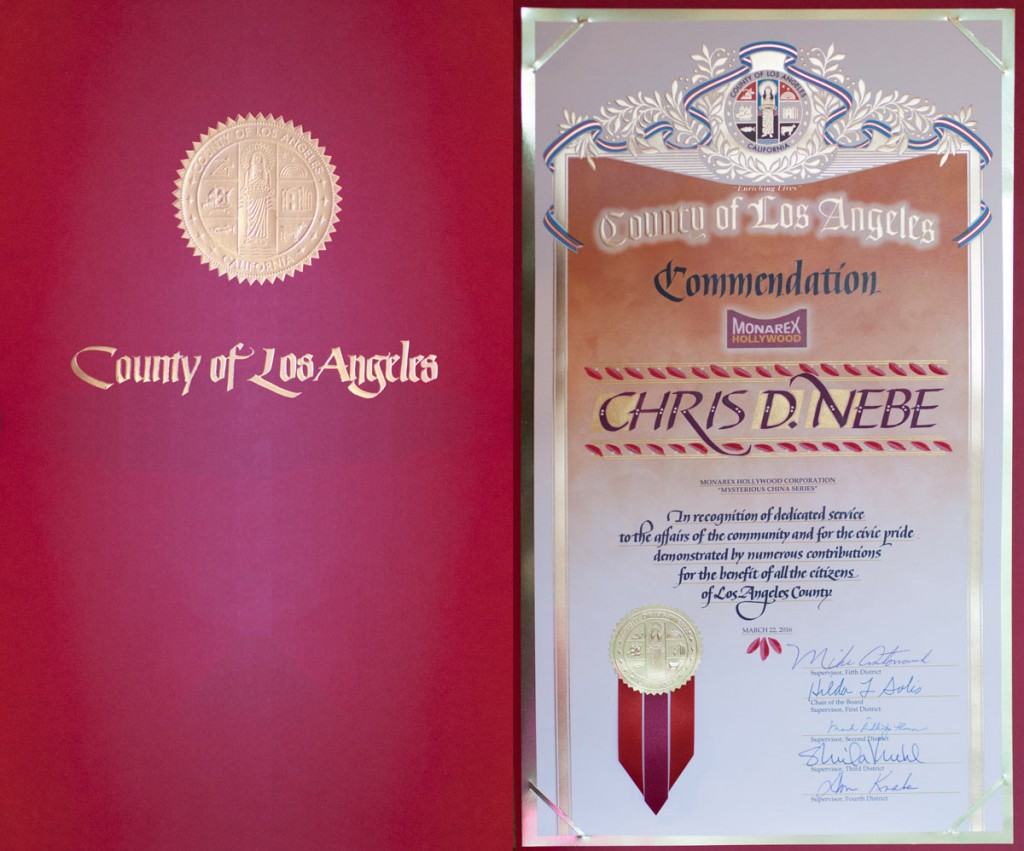 Los Angeles commendation