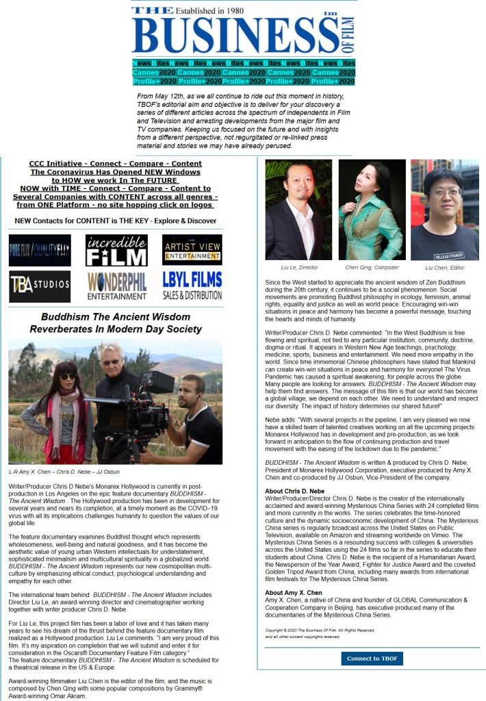 Business of Film Article